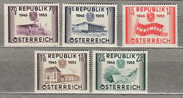 AUSTRIA OSTERREICH 1955 MNH(**) Mi 1012-1016 #21736 - 1945-60 Neufs
