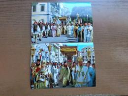 Griekenland - Greece / 2 Cards Of Corfou - Procession Of St Spyridon -> Unwritten - Grecia