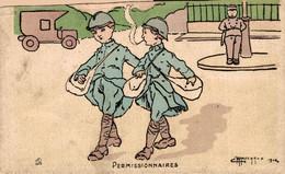 MILITARIA Humoristique  Permissionnaires  Ilustrateur Marechaux - Humor