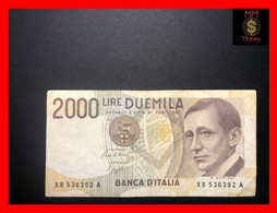 "ITALY 2000  2.000 Lire  25.7.2001  P. 115  ""replacement Serie XB""    VF    [MM-Money] - 2.000 Lire"