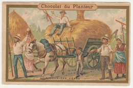 CHROMO CHOCOLAT DU PLANTEUR    LA DERNIERE GERBE - Andere