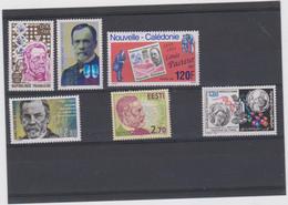Louis PASTEUR Lot 6 T Xx - 5 Pays - Années 1973 à 1995 (voir Description) - Louis Pasteur