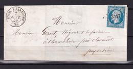 D 138 / NAPOLEON N° 14 SUR LETTRE - 1853-1860 Napoleon III