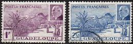 Guadeloupe Obl. N° 161 Et 162 - La Grande Soufrière - Non Classés