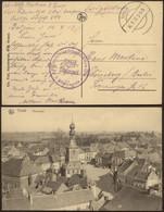 """Bataillon Allemand - Feldpostkarte (Belgien 1917) + Briefstempel """"Feldrekrutendepot D.3.Res.Div / 3 Kompagnie"""" - Deutsche Armee"""