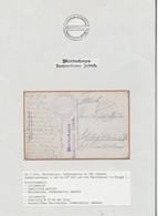 """Bataillon Allemand - Page De Collection : Feldpost + Griffe """"Marinekorps / Kommandantur Jabbeke"""" (Brugge 1) + Kaiserlich - Deutsche Armee"""