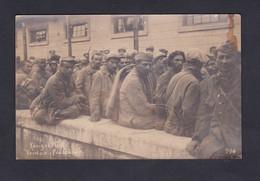 Carte Photo Guerre 14-18 Prisonniers Guerre  Verdun M. Leriche Maretz 3è R.I.T Neues Lager Königsbrück  Kriegsgefangenen - Guerra 1914-18