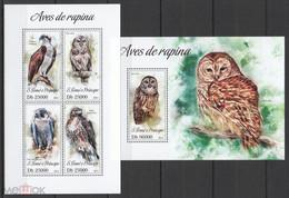 2013 Sao Tome And Principe Fauna Birds Of Prey KB + BL MNH - Other