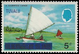 Tuvalu 1976 5c Canoe Wmk 12 Sideways Unmounted Mint. - Tuvalu (fr. Elliceinseln)