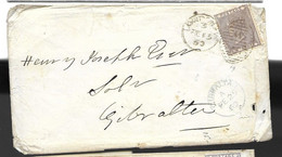 1860 London To Gibraltar Letter Better Darker Colour Tone - Briefe U. Dokumente