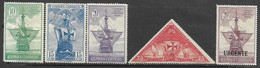 Spain  1930   Sc#423-6, E8  5 Better  MH   2016 Scott Value $6.10 - Ungebraucht