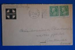 L20 ETATS UNIS BELLE LETTRE 1930 TEXAS + PAIRE DE T.P  + AFFRANCH. PLAISANT - Briefe U. Dokumente