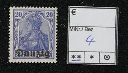Nr. 4 Danzig Postfrisch - Dantzig