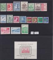 BELGIQUE, 1950, Année Complète MNH ** COB 823-840 + BL29 (Cote 245,00 €  - 84%) - Annate Complete