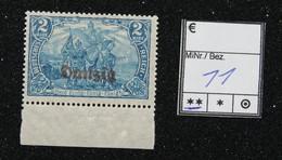 Nr. 11 Danzig Randstück Postfrisch - Dantzig