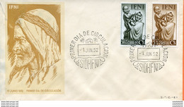 "Maroc,Ifni,FDC 1952 "" 1er Juin 1952 ""Morocco,Marruecos - Ifni"