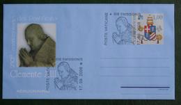 2008 Vaticano - Aerogramma Clemente XIII Euro 1,00 Gestempeld / Used VATICANO VATICAN VATICAAN - Ganzsachen