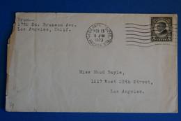 L20 ETATS UNIS BELLE LETTRE 1923 LOS ANGELES+ AFFRANCH. PLAISANT - Briefe U. Dokumente