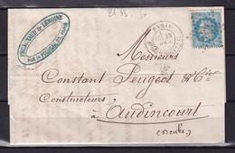 D 141 / NAPOLEON N° 29 SUR LETTRE - 1863-1870 Napoléon III Lauré