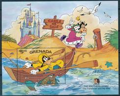 NB - [91561]SUP//**/Mnh-GRENADA - Walt Disney - Le Pêcheur Et Sa Femme, Dingo, Chateaux, Plage, Bateaux, B.D, Le Bloc De - Disney