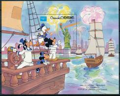 NB - [91617]SUP//**/Mnh-GRENADINES - Walt Disney - Mickey, Donald, Minnie Et Dingo, Célèbre La Statue De La Liberté, Feu - Disney