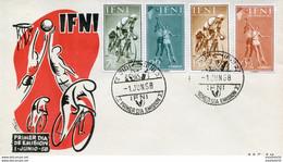"""Maroc, Ifni; FDC 1958 """" Primer Dia De Emision  """"Morocco;Marruecos - Ifni"""