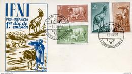 """Maroc;Ifni ; FDC 1959 ;sobre Primer Dia ; """" Pro Infancia """" ; Morocco,Marruecos - Ifni"""