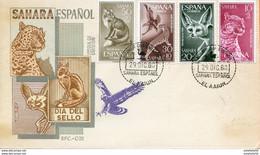 "Maroc;FDC 1960 ;Sahara Espagnol  "" Dia  Del Sello ;colorisée "" Morocco,Marruecos - Sahara Espagnol"