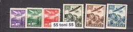 1939 Airmail (Airplanes) Mi 48-53 (Yv PA 1-6) 6v.-MNH   Slovaquie / SLOVAKIA - Nuevos