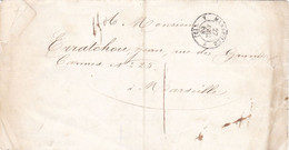 LAC Des Douanes à Marseille En Port Dû Local 27 Décembre 1858 - 1849-1876: Classic Period
