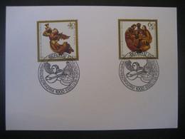 Deutschland Westberlin FDC 1958- Karte Mit Weihnachtsmarken Und Sonderstempel Auf MiNr. 458 Und 459 - FDC: Enveloppes