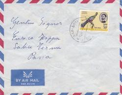 ETIOPIA - ADDIS ADEDA  - BUSTA VIAGGIATA -  -VIAGGIATA PER SALICE TERME (PAVIA) ITALY - Äthiopien