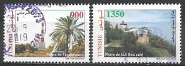 Tunisia 2014. Scott #1580-1 (U) Taguermess & Sidi Bou Said Lighthouses ** Complete Set - Tunisia