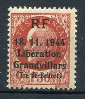 21033 FRANCE N°?** 1F50 Brun Maréchal Pétain : Libération De Grandvillars (Tre De Belfort)  18.11.1944    TB - Liberation
