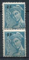 21040 FRANCE N°660** 50c. Turquoise  Mercure : Timbre Du Haut Plus Petit Tenant à Normal  1944  TB - Variétés: 1941-44 Neufs