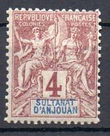 ColTGC  Sultanat D'Anjouan N° 3 Neuf XX MNH Cote 11,00€ - Neufs