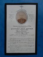 GENEALOGIE FAIRE PART DECES  RELIGION RELIGIEUX CURE Quitien Astier Saint Genes De Thiers 1891 - Avvisi Di Necrologio