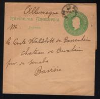 Streifband Drucksache (impresos) 15 ST 1897 An Graf Waldbott Von Bassenheim Zu Schloss Buxheim - Briefe U. Dokumente