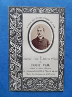 GENEALOGIE FAIRE PART DECES  ERNEST VAIL 1863 1888 - Avvisi Di Necrologio