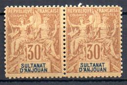 ColTGC  Sultanat D'Anjouan N° 9 Faux Fournier Paire Neuf XX MNH Cote >>>>€ - Neufs