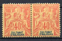 ColTGC  Sultanat D'Anjouan N° 10 Faux Fournier Paire Neuf XX MNH Cote >>>>€ - Neufs