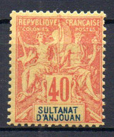 ColTGC  Sultanat D'Anjouan N° 10 Faux Fournier Neuf XX MNH Cote >>>>€ - Neufs