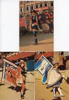 SIENA-PALIO-CORTEO STORICO-3 CARTOLINE VERA FOTOGRAFIA-NON VIAGGIATE-ANNO 1980 - Siena