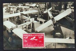 PARIS AVIATION: Belle Carte Photo Du 3 ème Salon D'Aviation. Obl. En 1912 Avec Une Belle Vignette D'Aviation...... - Sin Clasificación