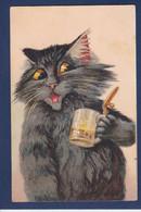 CPA Boulanger Chat Cat Circulé Bière - Gatti