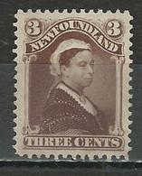 Newfoundland SG 52, Sc 51, Mi 38a (*) Mint No Gum - 1865-1902