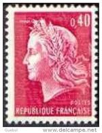 France Marianne De Cheffer N° 1536.Ba ** La République Le 0f40 Rouge Avec 2 Bandes De Phosphore - 1967-70 Marianne De Cheffer