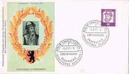 39601. Carta F.D.C. BERLIN Charlottemburg (Alemania Berlin) 1961.  GUTENBERG - FDC: Enveloppes
