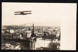 ARGENTINE AVIATION: Rare Carte Photo 1er Vol Catalogue Muller N°5, Buenos Aires/ Mendoza/ Santiago - Argentine