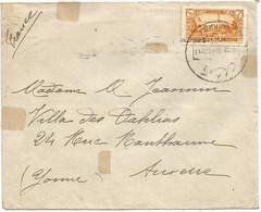 LEBANON LIBAN 4 PIASTRES SOLO MAL LETTRE COVER KAMICHLI 16.11.1936  TO FRANCE - Liban